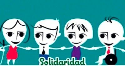 Dibujo referido al valor Solidaridad