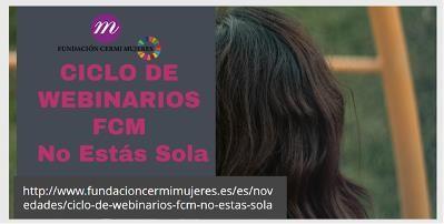 """Dipositiva del ciclo de webinar """"No estás sola"""""""