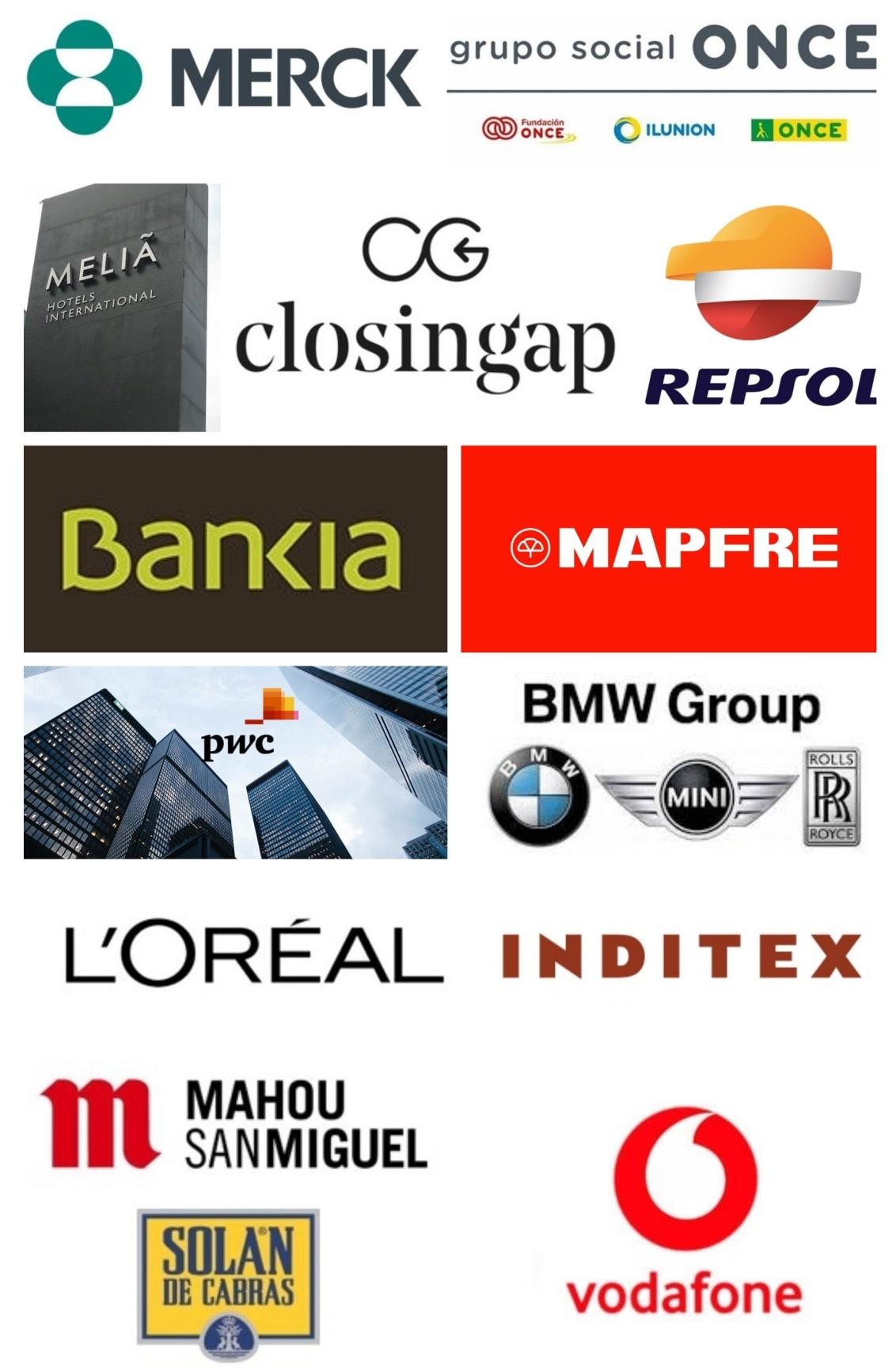 Collage con los logos de las empresas participantes en el clúster ClosinGap