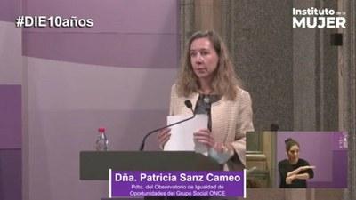 Patricia Sanz durante su intervención en el Instituto de la Mujer