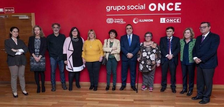 """Responsables de Fundación ONCE en la presentación de la campaña """"Más que capaz"""""""
