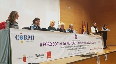 Sesión inagurala II Foro Social de Mujeres y Niñas con discapacidad
