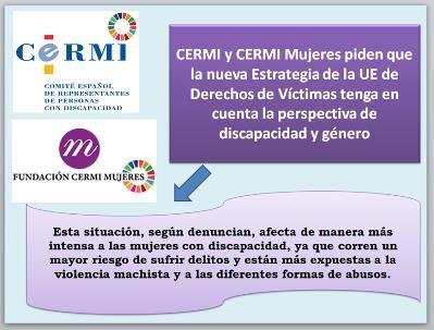 Infografía de la Estrategia Europea y la petición del CERMI