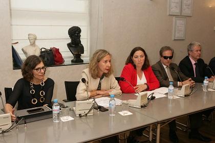 Patricia Sanz junto a Teresa Quirós y Susana Graupera