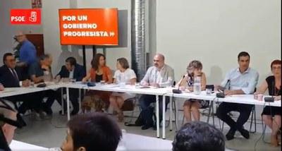 La mesa de la reunión, con Miguel Carballeda de Grupo Social ONCE