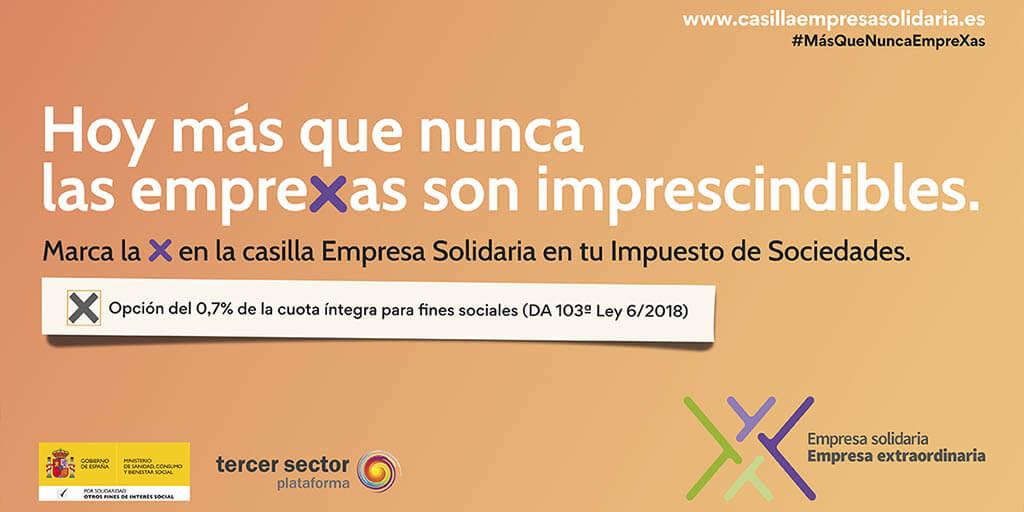 Imagen web de la campaña Emprexas Solidarias