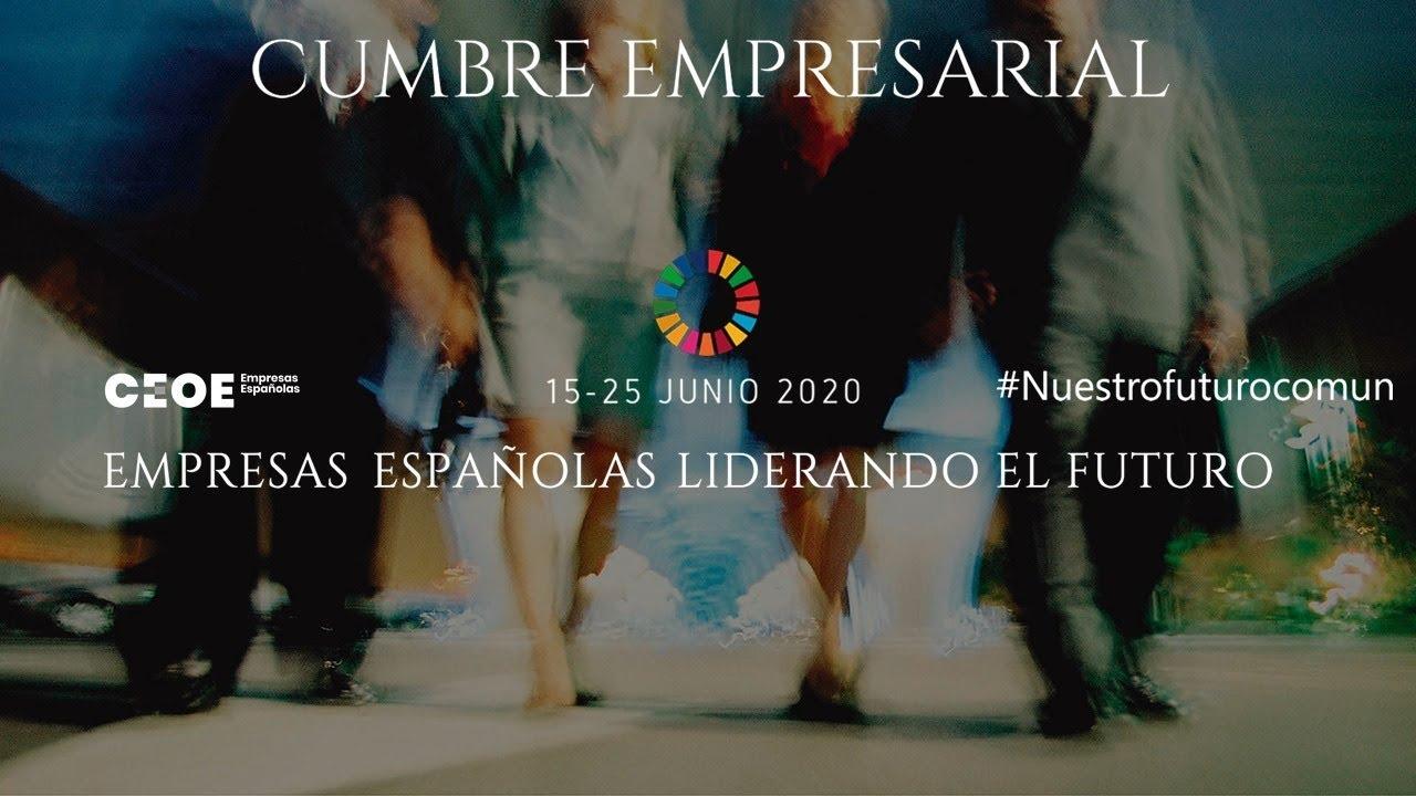 Diapositiva con el cartel de la Cumbre Empresarial