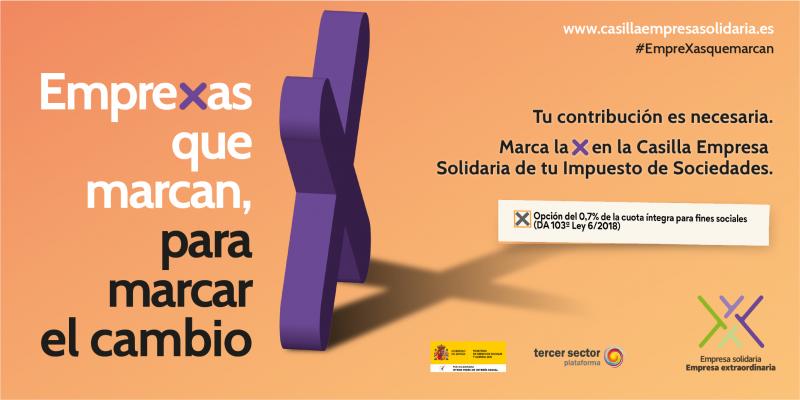 Diapositiva de la campaña EmpreXa Solidaria