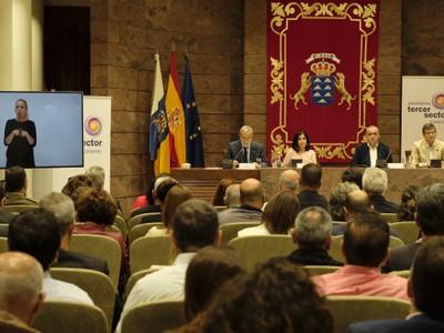 Acto de presentación de la Plataforma en Canarias