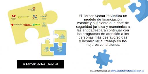 Diapositiva alusiva a la financiación del Tercer Sector