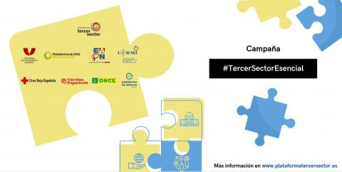 Imagen de la campaña #TercerSectorEsencial