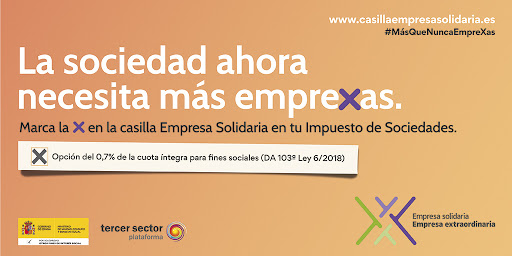 Diapositiva de la campaña X Empresa Solidaria