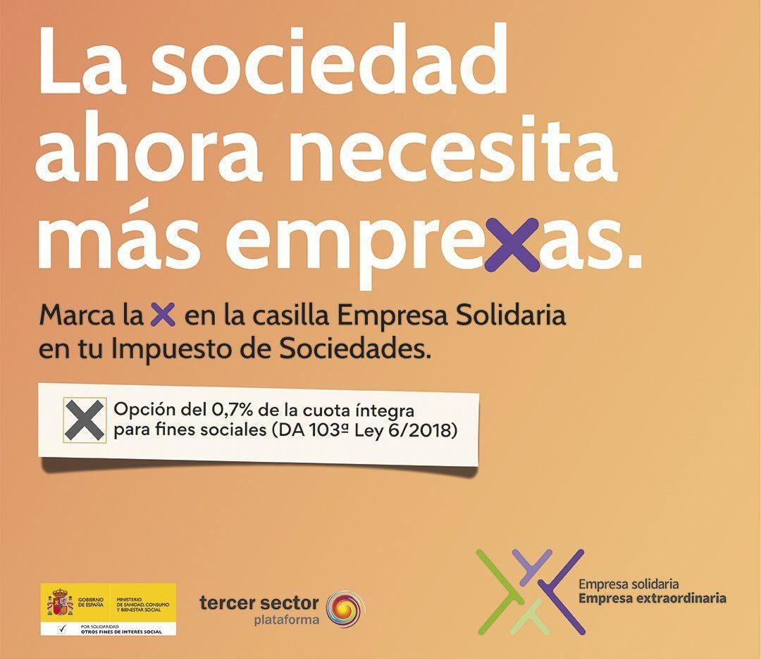 Cartel informativo de la casilla Empresa Solidaria