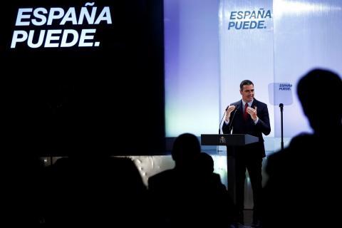 Pedro Sánchez en el acto de Casa de Ámerica