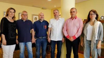 Representantes de CCOO y del Tercer Sector