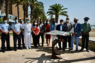 Un momento de la inauguración del Museo Aeronáutico Tiflológico de San Javier
