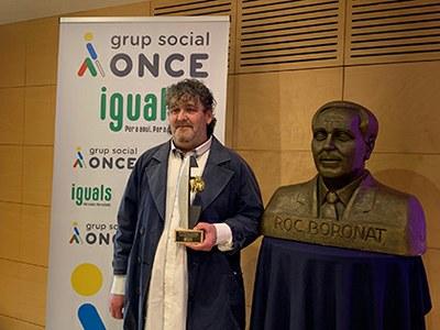 Quim Martínez, ganador del Roc Boronat en la categoría de escritores ciegos o con discapacidad visual