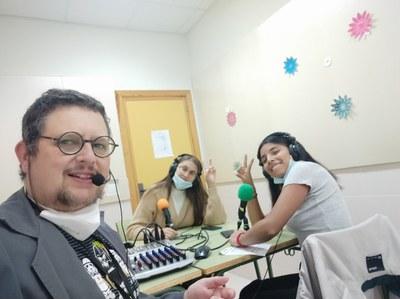 Alumnas y profe del IES Valle del Jerte