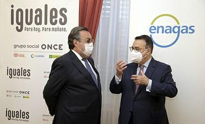 Miguel Carballeda y Antonio Llardén hablan tras la firma del acuerdo