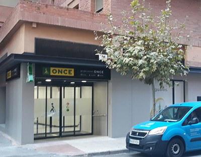 Fachada de la Agencia de la ONCE en Teruel
