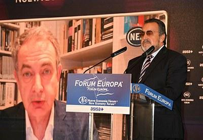 El expresidente José Luis Rodríguez Zapatero apoya la cumbre Mundial de la Ceguera y la labor del Grupo Social ONCE