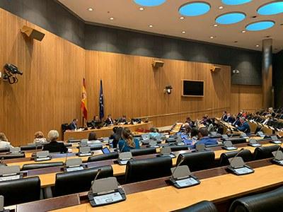 Miembros del Congreso asisten a la intervención de Carballeda