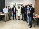 Foto de familia de la visita a la sede de la ONCE en Soria