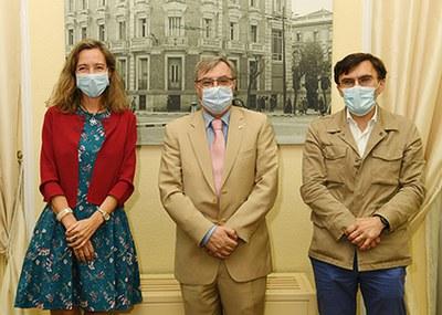 Patricia Sanz, Fernando Chacón y Alberto Durán