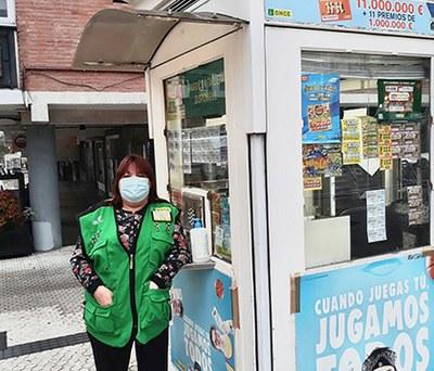 Antonia Canseco Palos, vendedora de la ONCE en San Sebastián