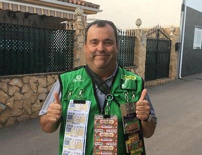 Antonio Escabia, vendedor de la ONCE en Puente Génave (Jaén)