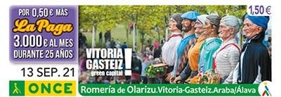 Cupón dedicado a la Romería Olarizu de Vitoria-Gasteiz