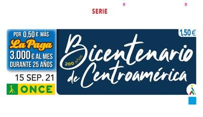 Cupón dedicado al Bicentenario de Centroamérica