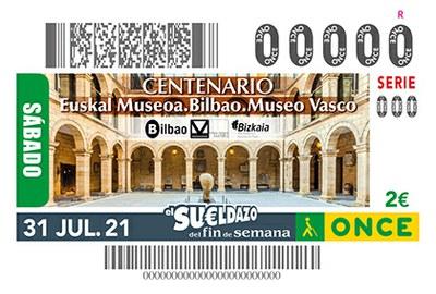 Cupón dedicado al Centenario del Museo del País Vasco