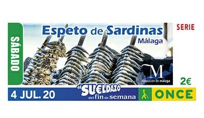 Cupón dedicado al Espeto de Sardina de Malaga
