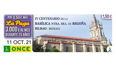 Cupón dedicado al IV Centenario de la Basílica de Ntra Sra de Begoña Bilbao