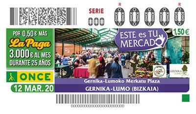 Cupón dedicado al Mercado de Gernika Lumo