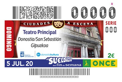 Cupón dedicado al Teatro Principal de Donostia San Sebastián