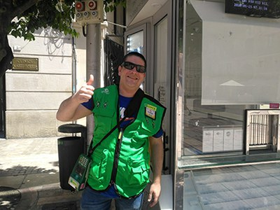 José MIguel vendedor de la ONCE