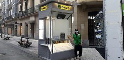 Maider vendedora de la ONCE