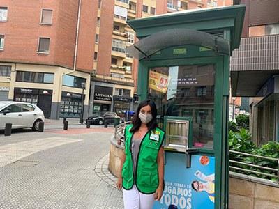 Vendedora de la ONCE en Bilbao