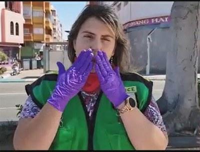 Vendedora de la ONCE en Canarias
