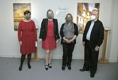 Foto de la inauguración de la exposición de Mariano Herrero en el Tiflológico