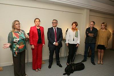Inauguración de la exposición de Antonio Madueño en el Tiflológico de la ONCE