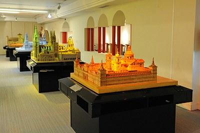 Maqueta del Monasterio de El Escorial, en el Museo Tifológico