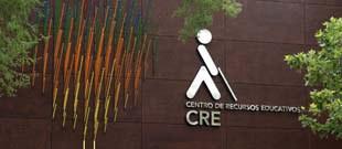 Detalle de la facha del CRE (Centro de Recursos Educativos)