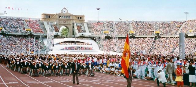 Desfile de la delegación española en los Juegos Paralímpicos Barcelona 92
