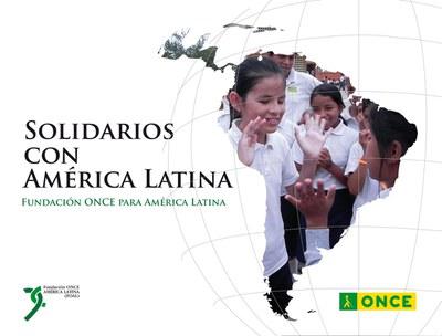 Portada del folleto-libro Solidarios con América Latina