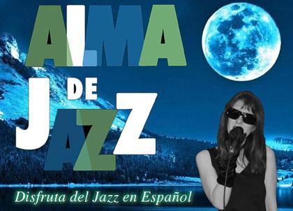Cartel de Alma de Jazz con la imagen de Cristina Díaz