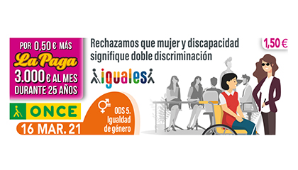 Cupón de la ONCE dedicado al ODS 5, Igualdad de género