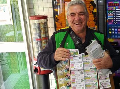 Leocadio Aguilera ha repartido un total de 1.250.000 euros entre diez vecinos de Alcalá de Guadaíra